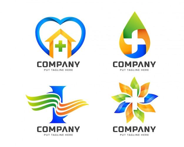 Medical hospital logo template for company