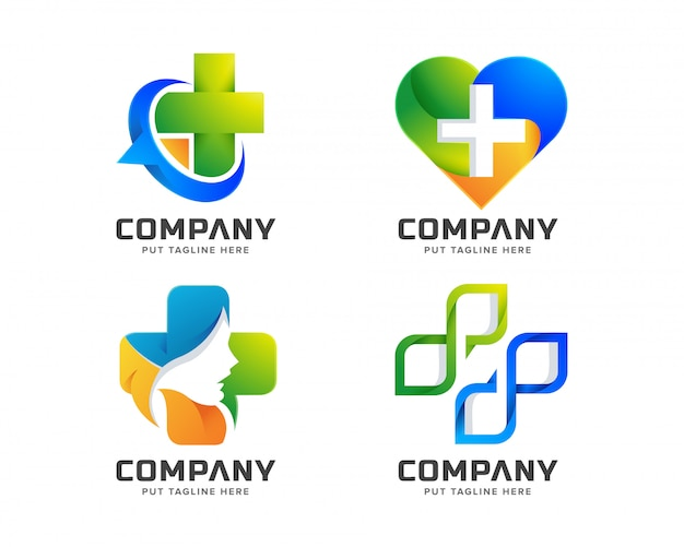 Medical hospital logo template for company