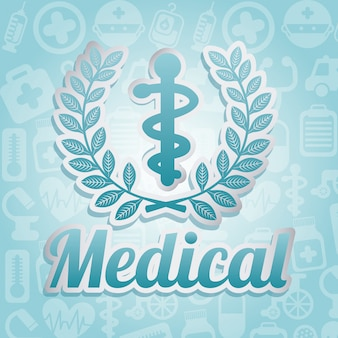 Medical icon over pattern background vector illustration
