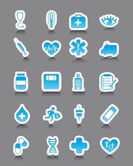 Medical icons over gray background vector illustration