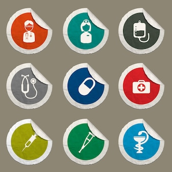 Medical icons set for web sites and user interface