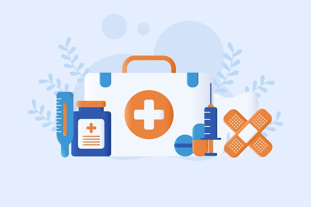 Medical   illustration flat