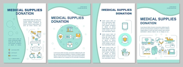 Medical and imedical supplies charity brochure template