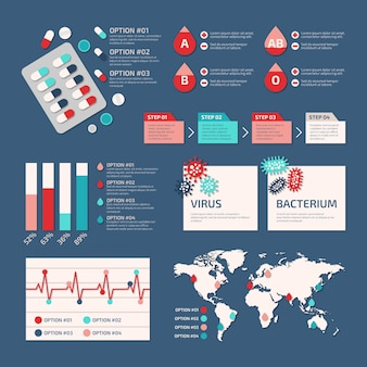 Medical infographic collection