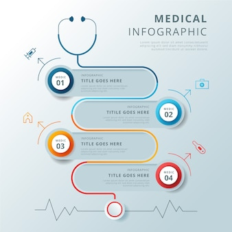Medical infographic concept