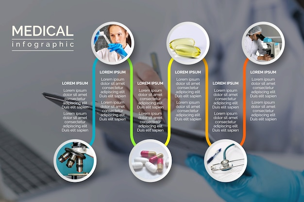 Medical infographic with image