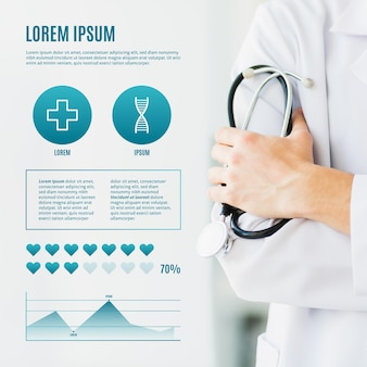 Medical infographic with photo