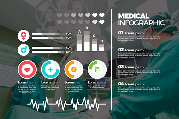 사진이있는 의료용 인포 그래픽