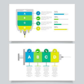 Infografica medica in design piatto