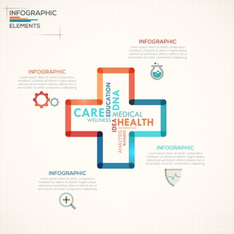Medical infographics options template