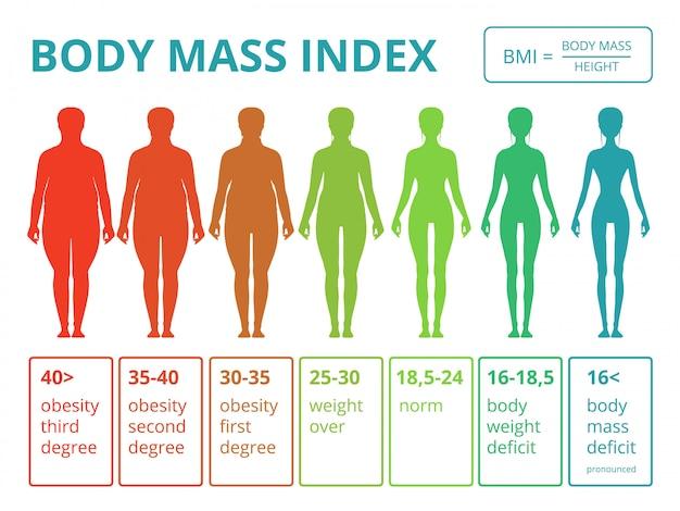 女性の身体のイラストと医療のインフォグラフィック