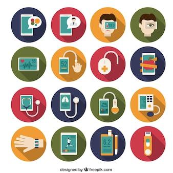 Медицинский инструментарий иконки