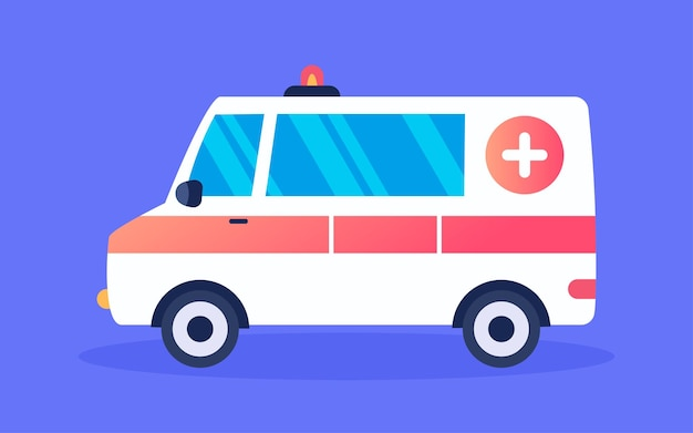 Medical insurance illustration ambulance safety first aid emergency rescue poster