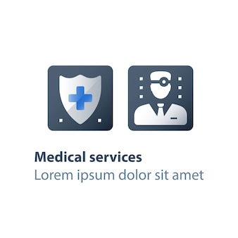 Medical insurance illustration