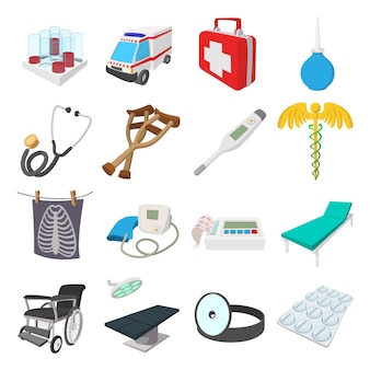 Medical isometric 3d icons isolated vector