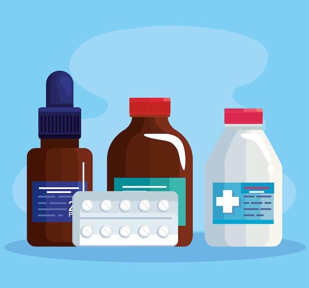 Медицинские банки и таблетки