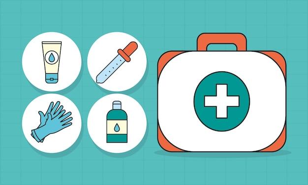 Набор иконок аптечка