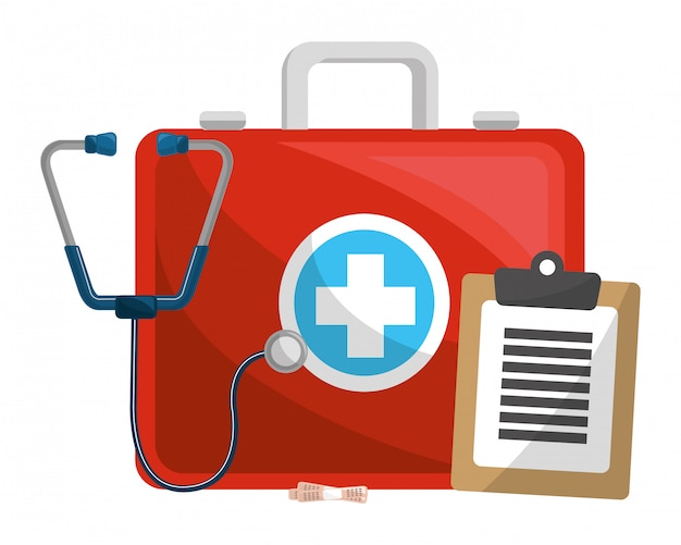 Medical kit with accesories