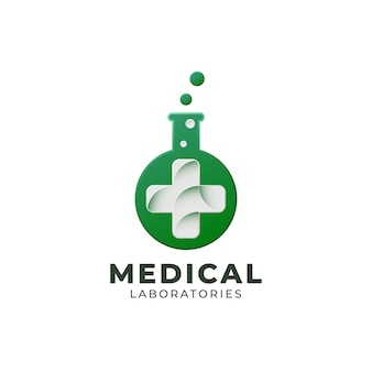 Medical laboratories logo template