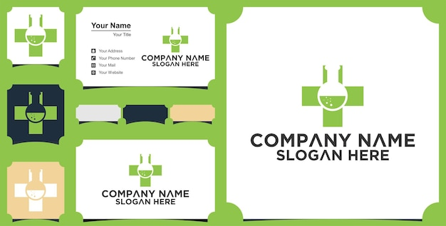 Medical laboratory logo and business card