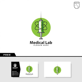 Medical laboratory logo