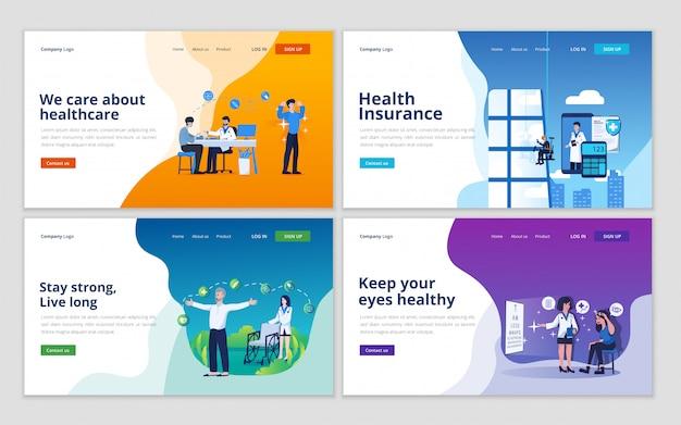 Шаблон коллекции медицинских целевых страниц