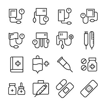 Medical line icons set