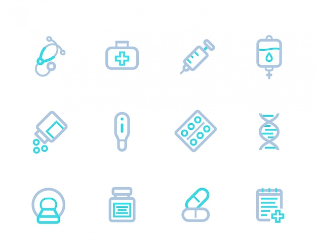 Medical linear icons