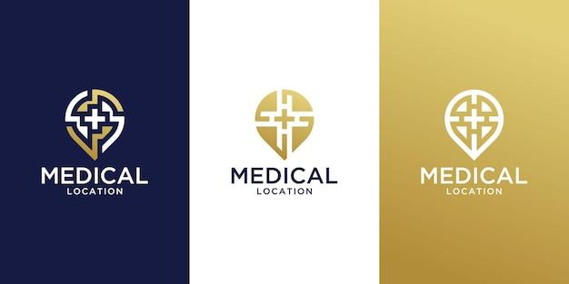 Medical location logo design