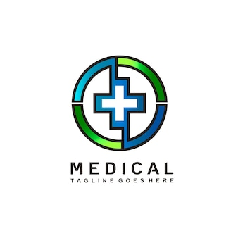 Medical logo design in vector