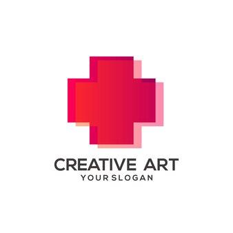 의료 로고 그라데이션 화려한 디자인