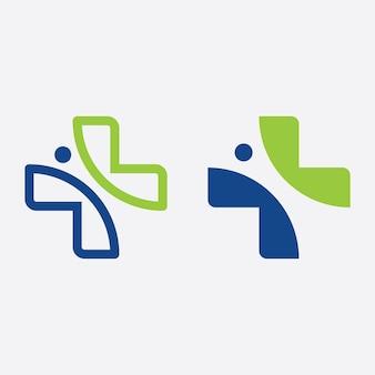 Medical logo sign, template vector illustration design