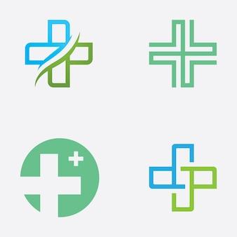 Медицинский логотип знак, шаблон векторные иллюстрации дизайн