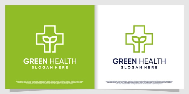 Medical logo with creative element premium vector part 1