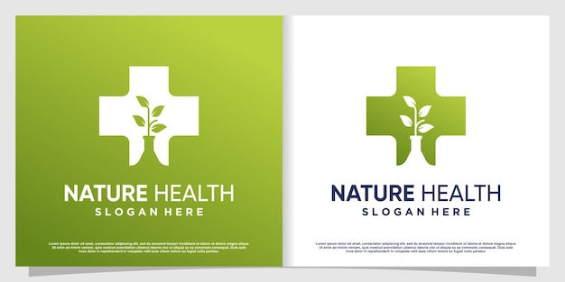 Medical logo with creative element premium vector part 5