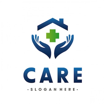Medical and love health care logo