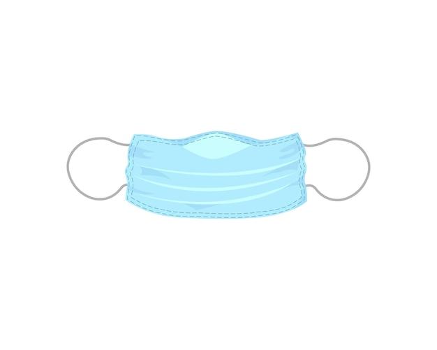 白い背景で隔離のフラットスタイルの医療マスク。エピデミックとウイルス対策。ベクターイラストeps10
