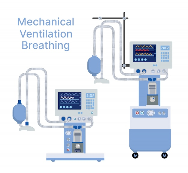 Medical mechanical ventilation machine for equipment device