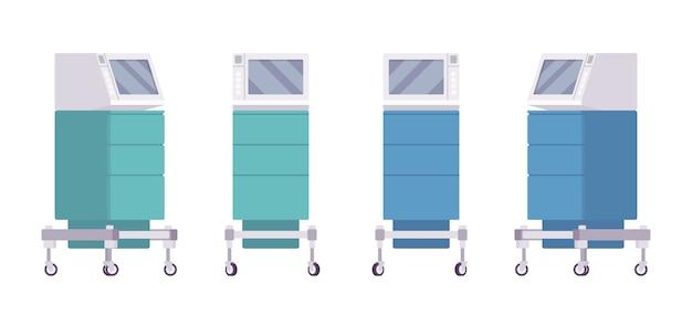 Medical monitor cart set