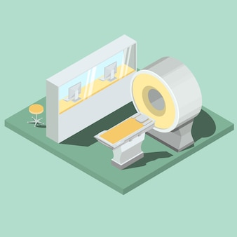 Medical mri scanner isometric projector vector