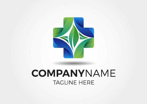 Medical nature leaf green logo