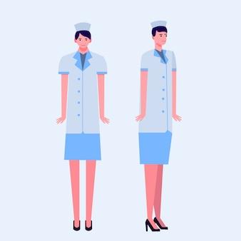 Medical nurse flat illustration Premium Vector