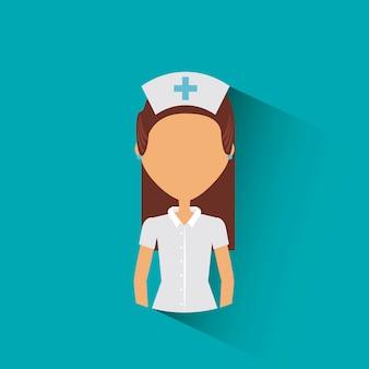 Medical nurse woman icon