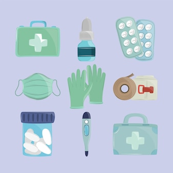 Набор медицинских объектов