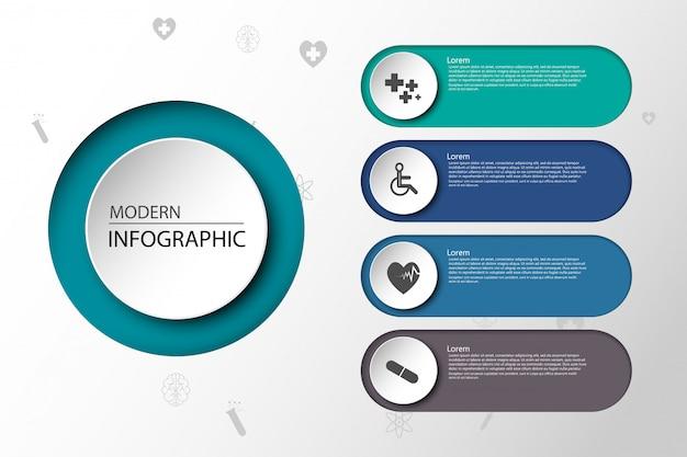종이 infographic 배경에 의료