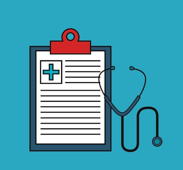 Medical order with stethoscospe