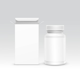 医療包装箱とボトル