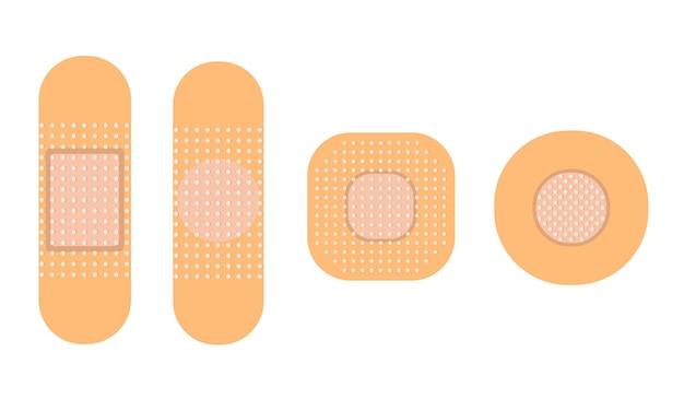 Медицинский патч набор иллюстраций антисептический патч иллюстрация