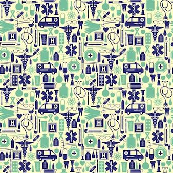 Medical pattern in vintage style