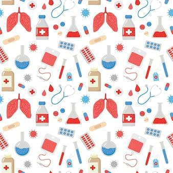 의료 패턴 정제 온도계 석고의 이미지